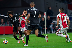 13-08-2019 NED: UEFA Champions League AFC Ajax - Paok Saloniki, Amsterdam<br />  Ajax won 3-2 and they will meet APOEL in the battle for a group stage spot / Diego Biseswar #21 of PAOK, Sergino Dest #28 of Ajax