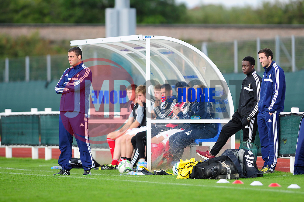 Bristol City U18s manager, Carlos Anton - Photo mandatory by-line: Dougie Allward/JMP - Tel: Mobile: 07966 386802 13/10/2013 - SPORT - FOOTBALL - WISE Campus - Bristol - Bristol City U18s v Sheffield United U18s - Youth League