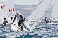 ENGLAND, Weymouth. 9th August 2011. Pre Olympic Test Event. Paul Goodison, GBR, Laser.