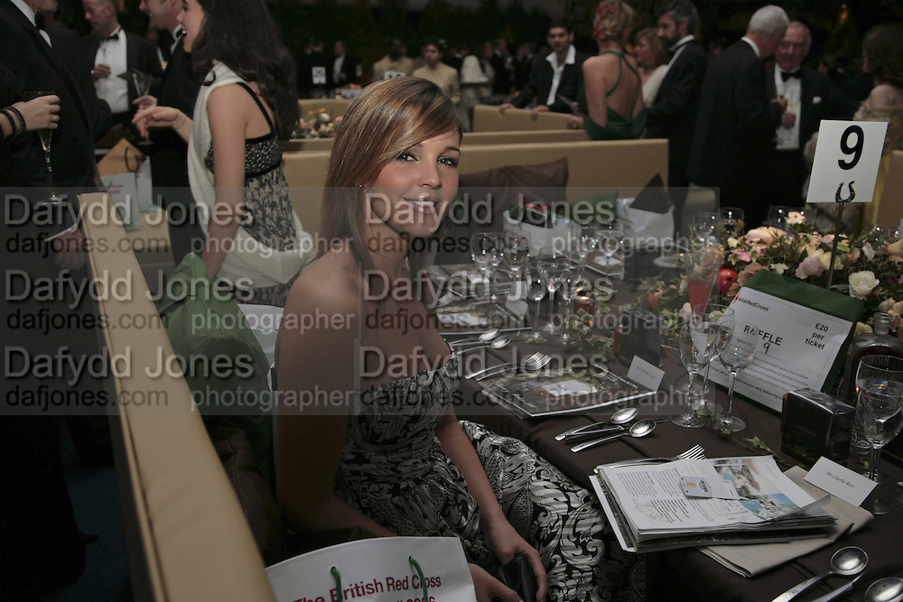 Danielle Lloyd, British Red Cross Ball, Waterloo. London. 16 November 2006.  TIME USE ONLY - DO NOT ARCHIVE  © Copyright Photograph by Dafydd Jones 66 Stockwell Park Rd. London SW9 0DA Tel 020 7733 0108 www.dafjones.com