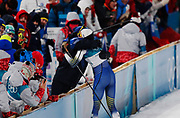 PYEONGCHANG-GUN, SOUTH KOREA - FEBRUARY 13: Stina Nilsson of Sweden gets a hug from head coach Rikard Grip during the Womens Individual Sprint Classic Finals on day four of the PyeongChang 2018 Winter Olympic Games at Alpensia Cross-Country Skiing Centre on February 13, 2018 in Pyeongchang-gun, South Korea. Photo by Nils Petter Nilsson/Ombrello               ***BETALBILD***