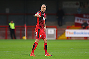 Jimmy Smith of Crawley Town gives orders during the Sky Bet League 2 match between Crawley Town and Stevenage at the Checkatrade.com Stadium, Crawley, England on 26 December 2015. Photo by Phil Duncan.