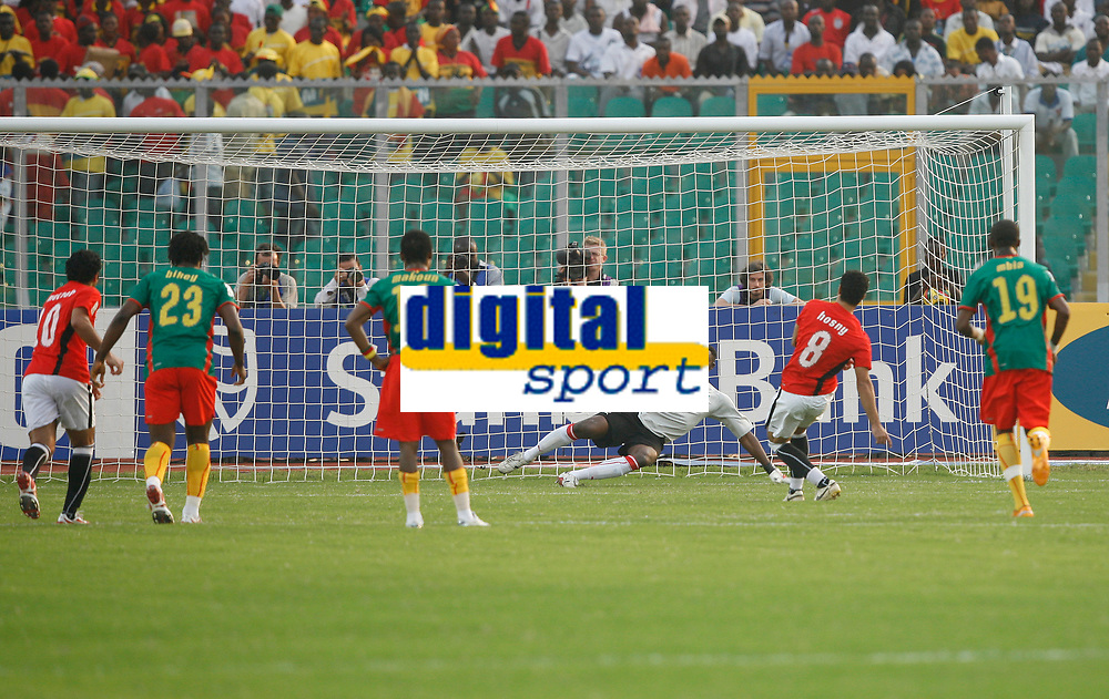 Photo: Steve Bond/Richard Lane Photography.<br /> Egypt v Cameroun. Africa Cup of Nations. 22/01/2008. Abdrabou Hasny (8) scores with a twice taken penalty