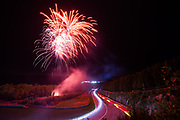 July 27-30, 2017 -  Total 24 Hours of Spa, light trails and fireworks during the 24 hours of Spa.