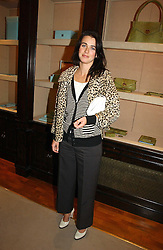 EMILY MULLION at a party to celebrate the 10th anniversary of the Smythson Fashion Diary and to the launch of the 2007 Limited Edition held at Smythson, New Bond Street, London on 25th October 2006.<br />