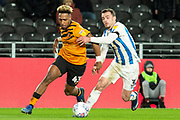 Mallik Wilks of Hull City during the EFL Sky Bet Championship match between Hull City and Huddersfield Town at the KCOM Stadium, Kingston upon Hull, England on 28 January 2020.