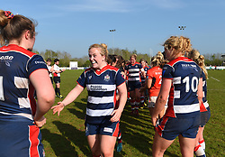 Bristol Ladies celebrates a decisive win over Saracens Women - Mandatory by-line: Paul Knight/JMP - 09/04/2017 - RUGBY - Cleve RFC - Bristol, England - Bristol Ladies v Saracens Women - RFU Women's Premiership Play-off Semi-Final