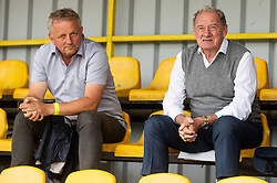 Milan Mandaric, president of Olimpija (R) during football match between NK Domzale and NK Olimpija in 29th Round of Prva liga Telekom Slovenije 2019/20, on June 21, 2020 in Sports park, Domzale, Slovenia. Photo by Vid Ponikvar / Sportida