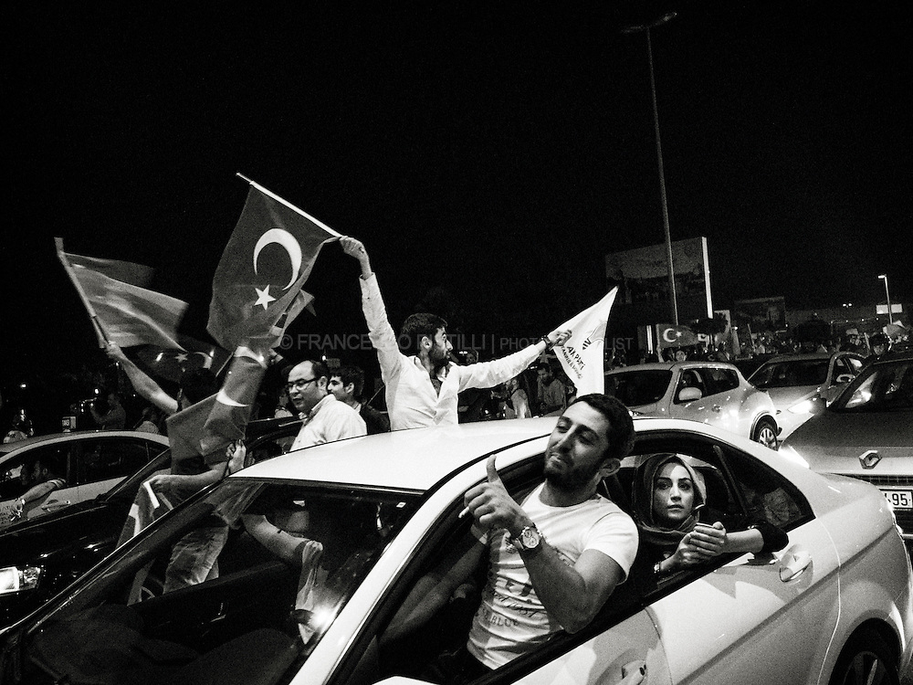 Thursday, June 6, 2013.<br /> Thousands at Istanbul airport for Erdogan arrival.<br /> Recep Tayyip Erdogan was returning from a four-day trip to north Africa after protests spiraled into dozens of cities around the country.