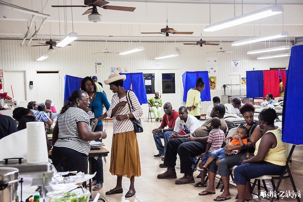 Voters at Charlotte Amalie High School. 8 September 2012.  © Aisha-Zakiya Boyd