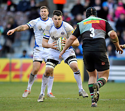 David Sisi of Bath Rugby in possession - Photo mandatory by-line: Patrick Khachfe/JMP - Mobile: 07966 386802 31/01/2015 - SPORT - RUGBY UNION - London - The Twickenham Stoop - Harlequins v Bath Rugby - LV= Cup