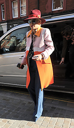 Singer Rita Ora and Nick Grimshaw leave BBC Radio 1 then go to the Chiltern Firehouse for beakfast this morning, London, UK. 20/10/2014<br />
