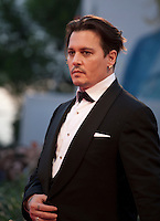 Actor Johnny Depp at the gala screening for the film The Danish Girl  at the 72nd Venice Film Festival, Saturday September 5th 2015, Venice Lido, Italy.