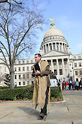 "1/22/13/  Jackson MS -Pro Life supporters gather outside the MS State Capitol on the 40th Anniversary of Roe-v-Wade. Governor Phil Bryant joins the PLAN (Pro Life America Network) and speaks at the Mississippi State capital in support of his Pro Life agenda on the 40th Anniversary of Roe-v-Wade. Governor Bryant asked  for people to ""pray for the unborn babies"" and Bryant is pushing hard to close the States only operating Abortion Clinic. Photo© Suzi Altman"