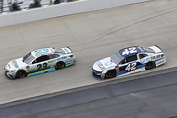 May 6, 2018 - Dover, Delaware, United States of America - Gray Gaulding (23) and Kyle Larson (42) battle for position during the AAA 400 Drive for Autism at Dover International Speedway in Dover, Delaware. (Credit Image: © Chris Owens Asp Inc/ASP via ZUMA Wire)