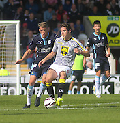 Dundee's Jim McAlister closes down St Mirren's Kenny McLean - St Mirren v Dundee, SPFL Premiership at St Mirren Park<br /> <br />  - &copy; David Young - www.davidyoungphoto.co.uk - email: davidyoungphoto@gmail.com