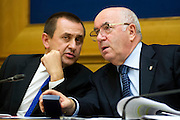Rome oct 6th 2015, Democratic Party presents a law on sports' education and culture. In the picture Ettore Rosato, Carlo Tavecchio