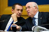 Rome oct 6th 2015, Democratic Party presents a law on sports' education and culture. In the picture Ettore Rosato, Carlo Tavecchio