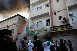 Witnesses said that police chased protesters inside a home where they sought shelter. The police threw sound grenades into a kitchen, which set off a fire inside the home that caused third degree burns to a number of the protesters