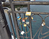 Locks on a bridge. Walkabout while the ship was docked in Ålesund. Image taken with a Leica X2 camera
