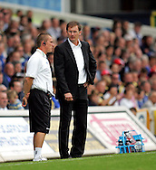 Cardiff - Saturday August 23rd, 2008: Glenn Roeder, manager of Norwich City during the Coca Cola Championship match at The Ninian Park, Cardiff. (Pic by Paul Hollands/Focus Images)