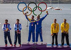GOLD medal Star class<br /> Loof Fredrik, Salminen Max, (SWE, Star)<br /> SILVER Percy Iain, Simpson Andrew, (GBR, Star)<br /> BRONZE   Scheidt Robert, Prada Bruno, (BRA, Star)<br /> <br /> 2012 Olympic Games <br /> London / Weymouth