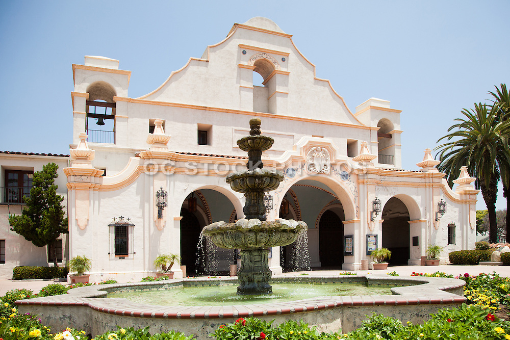 San Gabriel Mission Playhouse and Constitution Fountain