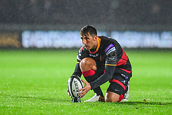 Dragons' Gavin Henson prepares for a kick at goal - Mandatory by-line: Craig Thomas/JMP - 30/09/2017 - RUGBY - Rodney Parade - Newport, Gwent, Wales - Newport Gwent Dragons v Southern Kings - Guinness Pro 14