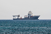 Cargo ship entering the Limassol port, Cyprus