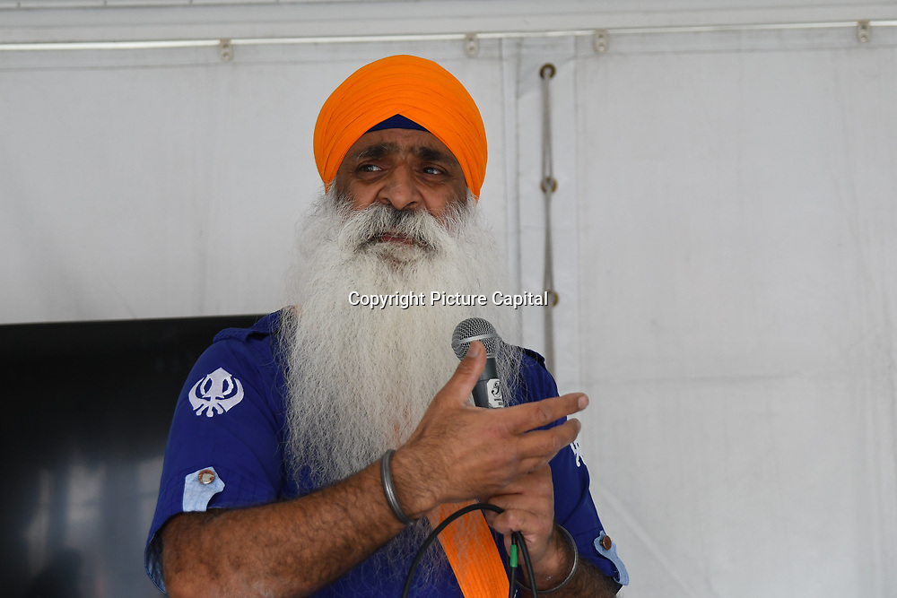 London, England, UK. 27 April 2019. Storytelling/Spoken word at the Vaisakhi Festival is a Sikh New Year in Trafalgar Square, London, UK.