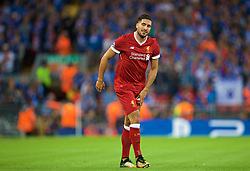 LIVERPOOL, ENGLAND - Wednesday, August 23, 2017: Liverpool's Emre Can with an injury during the UEFA Champions League Play-Off 2nd Leg match between Liverpool and TSG 1899 Hoffenheim at Anfield. (Pic by David Rawcliffe/Propaganda)