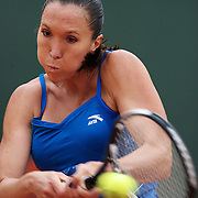 Jelena Jankovic of Serbia during her first round win over Petra Cetkovska of CZE at the French Open Tennis Tournament at Roland Garros, Paris, France on Tuesday, May 26, 2009. Photo Tim Clayton.