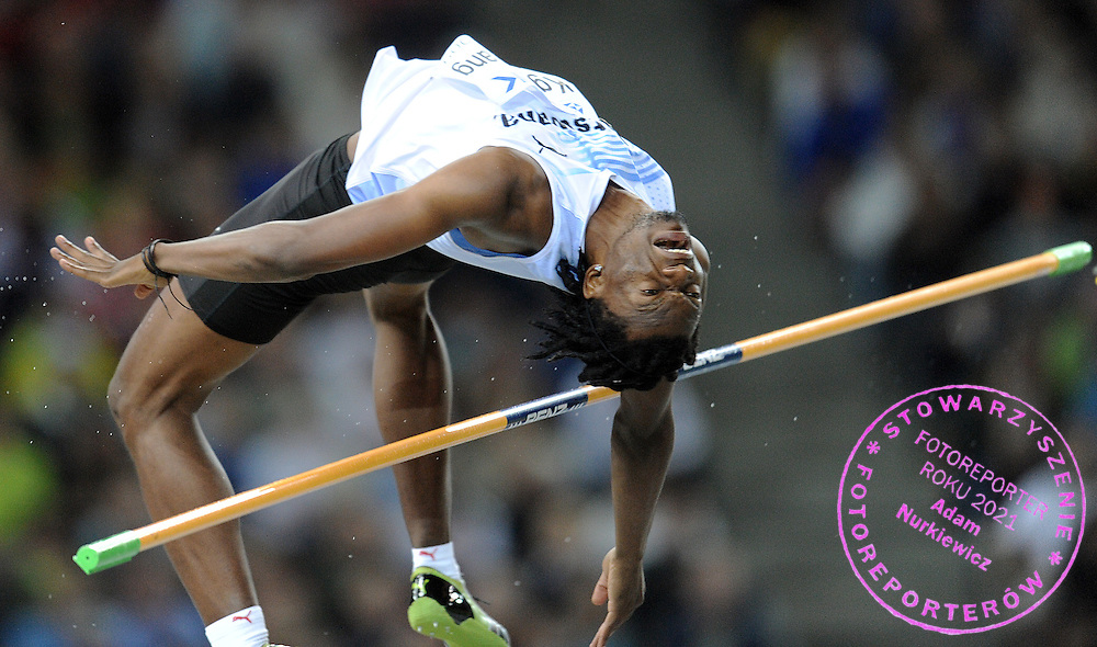 KABELO KGOSIEMANG (BOTSWANA) COMPETES HIGH JUMP MEN FINAL ON THE OLYMPIC STADION ( OLIMPIASTADION ) DURING 12TH IAAF WORLD CHAMPIONSHIPS IN ATHLETICS BERLIN 2009..BERLIN , GERMANY , AUGUST 21, 2009..( PHOTO BY ADAM NURKIEWICZ / MEDIASPORT )..PICTURE ALSO AVAIBLE IN RAW OR TIFF FORMAT ON SPECIAL REQUEST.