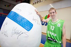 Miha Lapornik during Open day of Slovenian U20 National basketball team before the European Chmpionship in Slovenia, on July 9, 2012 in Domzale, Slovenia.  (Photo by Vid Ponikvar / Sportida.com)