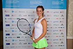 LIVERPOOL, ENGLAND - Friday, June 16, 2017: Ellie Tsimbilakis (GBR) during Day Two of the Liverpool Hope University International Tennis Tournament 2017 at the Liverpool Cricket Club. (Pic by David Rawcliffe/Propaganda)