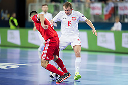 Sebastian Wojciechowski of Poland during futsal match between Russia and Poland at Day 1 of UEFA Futsal EURO 2018, on January 30, 2018 in Arena Stozice, Ljubljana, Slovenia. Photo by Urban Urbanc / Sportida