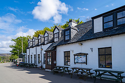 Applecross Inn hotel on the North Coast 500 tourist motoring route in northern Scotland, UK