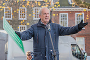 Gyles Brandreth - A rally at Richmond - led by Zac Goldsmith and attended by Gyles Brandreth, Alistair Mc Gowan and local protest groups - is followed by various protests at the airport itself led by Rising Tide and other protest groups.