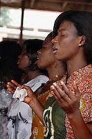 GHANA,Accra,Adabraka, 2007. Sunday mornings see the Calvary Baptist Church in Adabraka full to capacity.