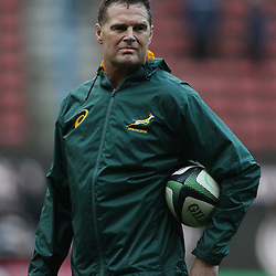 Rassie Erasmus (Head Coach) of South Africa during the 2018 Castle Lager Incoming Series 3rd Test match between South Africa and England at Newlands Rugby Stadium,Cape Town,South Africa. 23,06,2018 Photo by (Steve Haag JMP)