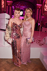 Left to right, Camilla Kerslake and Hofit Golan at the Floral Ball in aid of Sheba Medical Center hosted by Laura Pradelska and Zoe Hardman and held at One Marylebone, 1 Marylebone Road, London England. 14 March 2017.