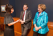 Ellen Sigal, Ph.D. Chairperson and Founder of Friends of Cancer Research, with Dr. Clifford A. Hudis, MD, Chief Executive Officer, American Society of Clinical Oncology (ASCO), moderator, center, and Deborah K. Mayer, Ph.D., RN, AOCN, FAAN, Director of Geriatric Health and Director of Cancer Survivorship, University of North Carolina, right, during the National Cancer Moonshot Blue Ribbon Panel Discussion at Dirksen Senate Office Building in Washington, DC, on Tuesday, September 27, 2016.  The event was sponsored by the National Coalition for Cancer Research and One Voice Against Cancer. (Alan Lessig/)