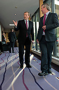 17/02/2016     An Taoiseach Enda Kenny TD at the Clayton Hotel Galway with Pol O Gealachoir TG4 <br /> Photo:Andrew Downes, xposure.