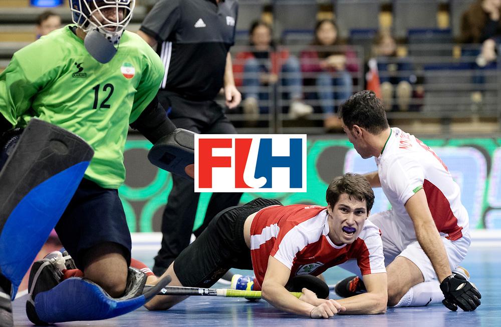BERLIN - Indoor Hockey World Cup<br /> Men: Iran - Austria<br /> foto: EITENBERGER Sebastian.<br /> WORLDSPORTPICS COPYRIGHT FRANK UIJLENBROEK