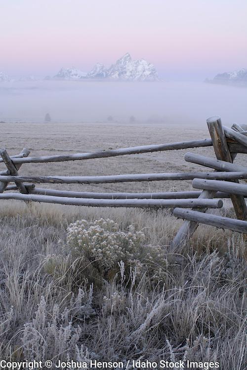 Wyoming. Grand Teton National Park. Dawn at Triangle X Ranch.