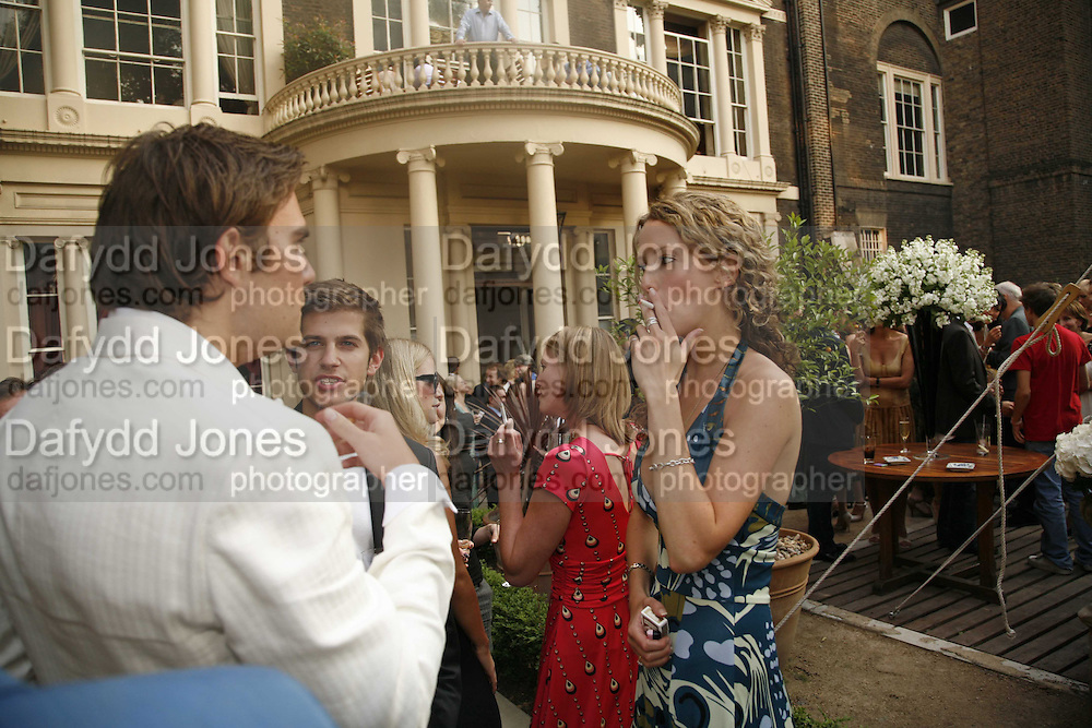 Oscar Humphries and Kate Melhuish, Tatler Summer party ( in association with Fendi) Home House, Portman Sq. 29 June 2006. ONE TIME USE ONLY - DO NOT ARCHIVE  © Copyright Photograph by Dafydd Jones 66 Stockwell Park Rd. London SW9 0DA Tel 020 7733 0108 www.dafjones.com