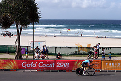 Canada's Stephanie Roorda in action during the Women's Individual Time Trial at Currumbin Beachfront on day six of the 2018 Commonwealth Games in the Gold Coast, Australia.