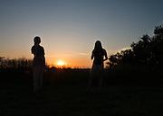 Sunset at Radar Hill. © Ohio University /  Photo by Kaitlin Owens