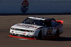 Mar 9, 2012; Las Vegas, NV, USA; Nationwide Series driver Brad Keselowski (22) during practice for the Sam's Town 300 at Las Vegas Motor Speedway. Mandatory Credit: Jason O. Watson-US PRESSWIRE