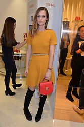 LONDON, ENGLAND 1 DECEMBER 2016: Charlotte de Carle at the launch of the new Folli Follie store at 124 Regent Street, London, England. 1 December 2016.